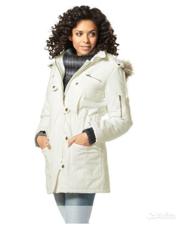 Белая куртка парка женская