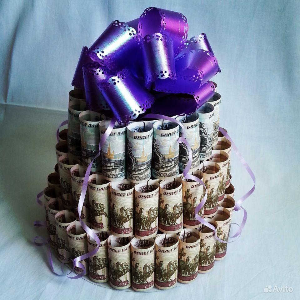 Поздравления к торту из денег 85