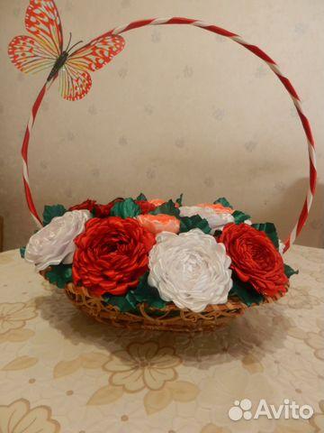 Канзаши розы из ленты 25 см мастер класс видео