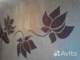 Рисунки на стенах своими руками жидкими обоями