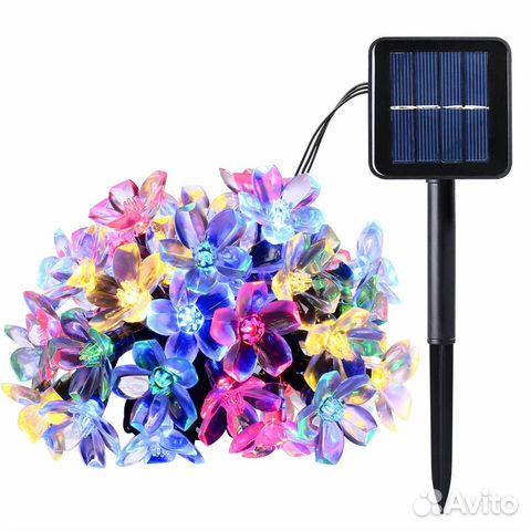 Гирлянда на солнечных батареях на алиэкспресс