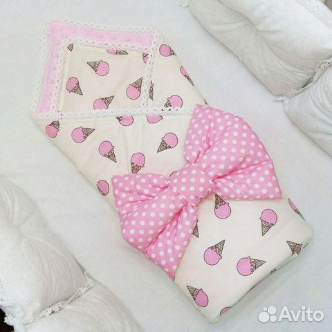 Одеяло с рюшами на выписку своими руками 3