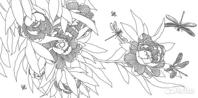 раскраска антистресс для взрослых волшебные цветы купить в