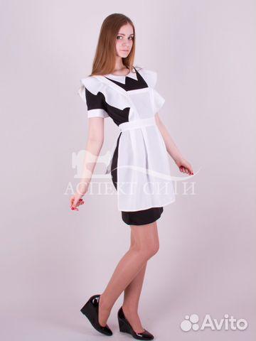 Платье с фартуком на последний звонок купить в Москве на Avito ... 297d7b09fa8