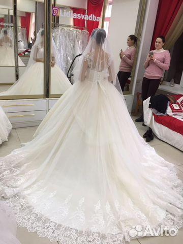 9cce1b9c082 Свадебное платье со шлейфом Pudra купить в Ростовской области на ...