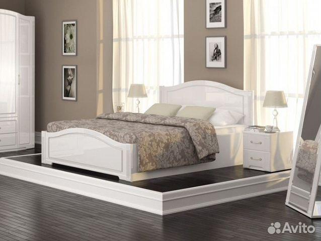 кровать 160х200 виктория белый глянец новая купить в республике