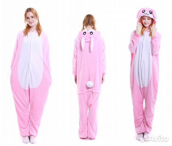 Кигуруми Кролик розовый пижама заяц  f173261e55d00