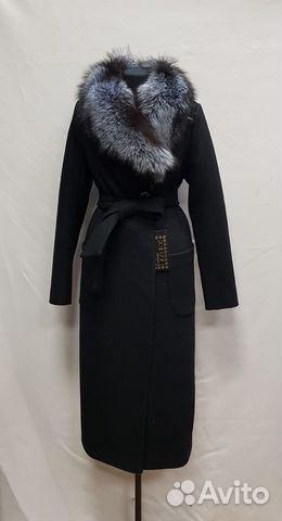 d67d64dd6c9 Пальто длинное с мехом чернобурки