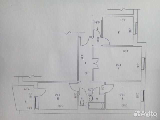 Продается трехкомнатная квартира за 2 180 000 рублей. Балаково, Саратовская область, Степная улица, 6.