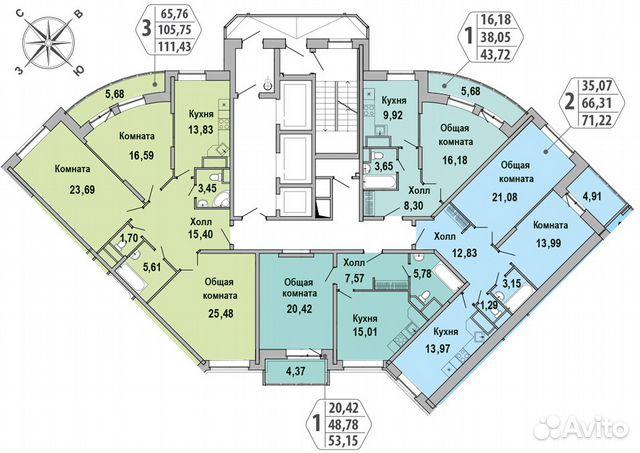 Продается двухкомнатная квартира за 9 600 000 рублей. Московская обл, г Люберцы, ул Кирова, д 9 к 2.