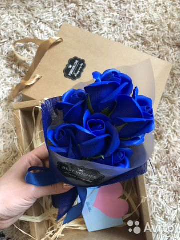 Букет из роз (мыльные розы) подарочный набор из ро  89157798590 купить 4