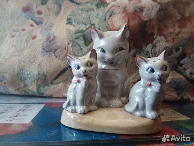 Фарфоровый набор для специй кошка с котятами  89105477639 купить 1