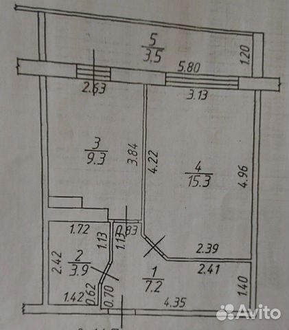 1-к квартира, 36 м², 7/10 эт. купить 1