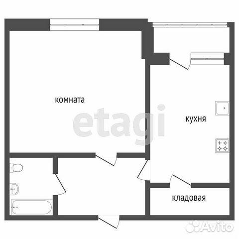 1-к квартира, 36 м², 8/9 эт.