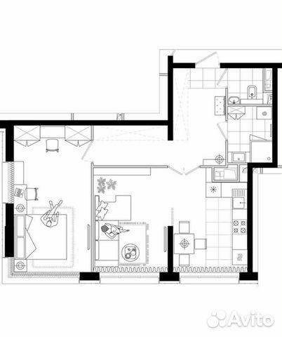 2-к квартира, 62.8 м², 3/9 эт.  88412645458 купить 5