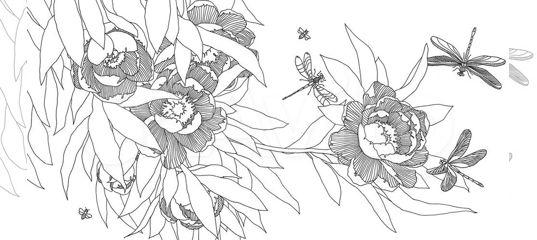 раскраска антистресс для взрослых волшебные цветы