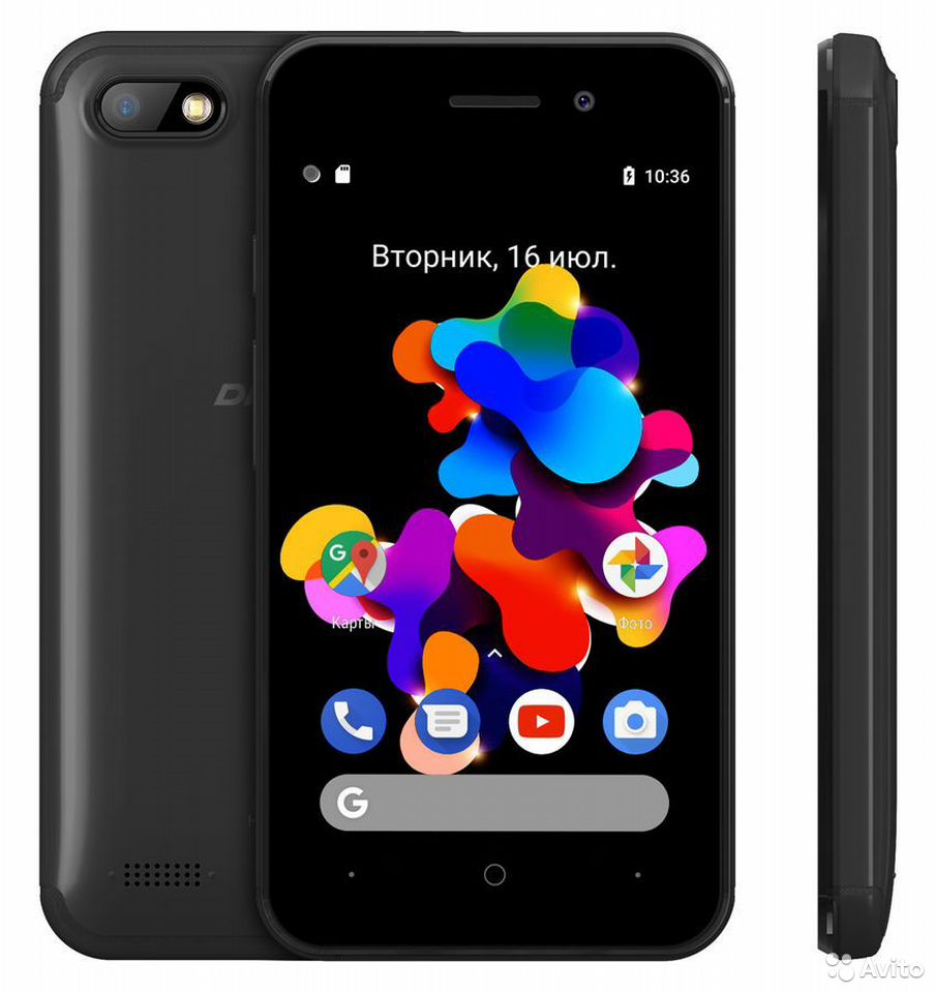 Смартфон digma HIT 8Gb, Q401 3G, черный