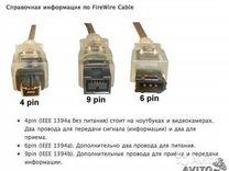 Firewire Кабель Firewire 400 на mini-firewire iLin — Товары для компьютера в Санкт-Петербурге