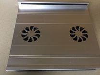 Подставка кулер для ноутбука Gembird алюминий два