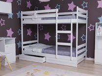 Кровать Двухъярусная из массива
