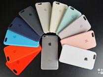 Silicone case iPhone 6S цвет черный A1688 ZP/A