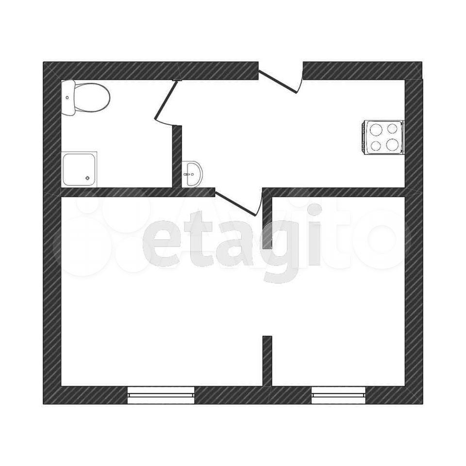 1-к квартира, 23 м², 2/5 эт.  89677653577 купить 9
